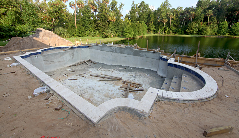 Davenport post pools lakeland florida proview for Swimming pool construction
